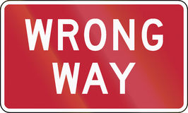 Wrong Way Royalty Free Stock Images