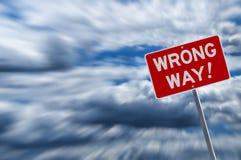 Wrong way warning royalty free stock photography