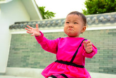 Wronged cry (asian girl) Royalty Free Stock Photography