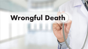 Wrongful Death Doctor talk and  patient medical working at offi Royalty Free Stock Image