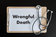 Wrongful Death Doctor talk and  patient medical working at offi Stock Photography