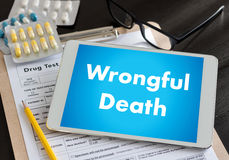 Wrongful Death Doctor talk and  patient medical working at offi Royalty Free Stock Photo