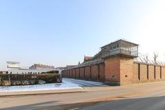 Wronki Prison, the largest prison in Poland stock photos