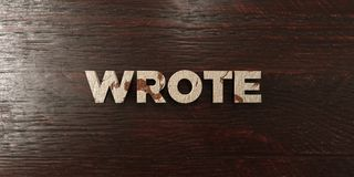 Wrote - grungy wooden headline on Maple  - 3D rendered royalty free stock image Royalty Free Stock Image
