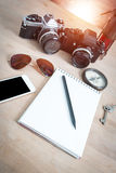 He wrote in his journal, travel, holiday travel Royalty Free Stock Photos