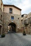 Wrotna De Les Krawędź średniowieczna ściana Santpedor Zdjęcie Royalty Free