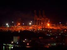 Wrotna infrastruktura nocą Zdjęcia Stock