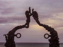 Wrotna majowie rzeźba, playa del carmen, Meksyk Zdjęcia Stock