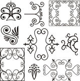 Wrough iron ornaments Stock Photo