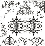 Wrough iron ornaments Royalty Free Stock Photography
