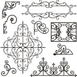 Wrough iron ornaments Stock Images