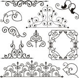 Wrough iron ornaments vector illustration