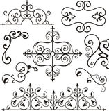 Wrough iron ornaments. A set of exquisite and very clean wrought iron ornamental designs. EPS file available Royalty Free Stock Photography