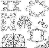 Wrough iron ornaments. A set of exquisite and very clean wrought iron ornamental designs, vector series. EPS file available vector illustration