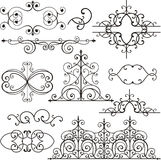 Wrough iron ornaments royalty free illustration