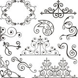 Wrough iron ornaments Royalty Free Stock Images
