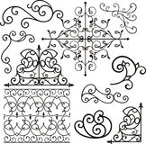 Wrough iron ornaments Stock Photography