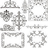 Wrough iron ornaments Royalty Free Stock Photos