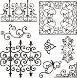 Wrough iron ornaments. A set of exquisite and very clean wrought iron ornamental designs, vector series. EPS file available royalty free illustration