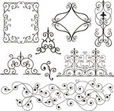 Wrough iron ornaments. A set of exquisite and very clean wrought iron ornamental designs, vector series. EPS file available stock illustration