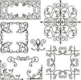 Wrough iron ornaments Royalty Free Stock Photo