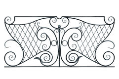Wrought fence of the balcony, gallery. Royalty Free Stock Images