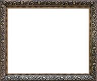 Wrought gold frame isolated Stock Images