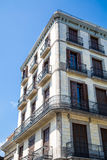 Wrought Iron around Balconies of Old Barcelona Hotel Stock Images
