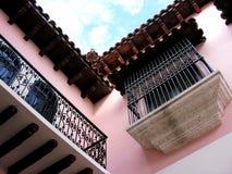Wrought iron balcony Stock Photography