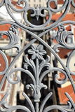 Wrought-iron balustrade. Detail of a wrought-iron balustrade in Lisbon, Portugal Stock Images