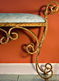 Wrought Iron Bench Stock Photo