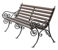 Wrought-iron bench Stock Photos
