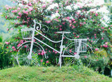 Wrought iron bicycle Stock Images
