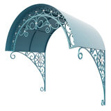 Wrought iron canopy Stock Photo