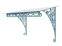 Wrought iron canopy. Isolated on white background Royalty Free Stock Image