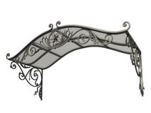 Wrought iron canopy. Isolated on white background Stock Photography