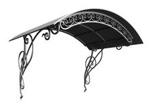 Wrought iron canopy. Isolated on white background Royalty Free Stock Photo