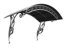 Wrought iron canopy. Isolated on white background stock illustration