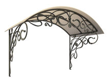 Wrought iron canopy. Isolated on white background vector illustration