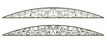 Wrought iron canopy Stock Photography
