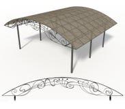 Wrought iron canopy Stock Photos