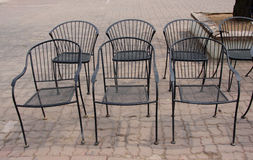 Wrought iron chairs Royalty Free Stock Photos