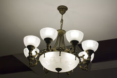 Wrought iron chandelier stock photos