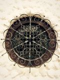 wrought iron circular window Stock Photo