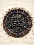 Wrought iron circular window Stock Photo