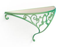 Wrought iron console table with glass top Royalty Free Stock Image