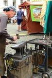 Wrought iron craftsman. Prague. Czech Republic Stock Image