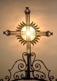 Wrought iron cross Royalty Free Stock Image