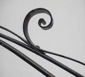 Wrought iron curve Stock Photography