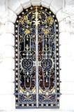 Wrought iron door stock image